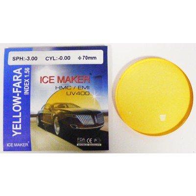 ND=1,56 YELLOW FARA Линзы полимерные, подходят для вождения за рулем, всепогодные для ночного и дневного ношения, остаточный рефлекс сиреневый, цвет желтый