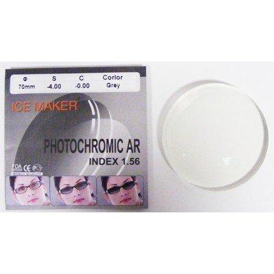 ND=1,56 PHOTOHROMIC AR BROWN, GREY Фотохромные линзы, цвет серый и коричневый, остаточный рефлекс зеленый, затемнение 80%